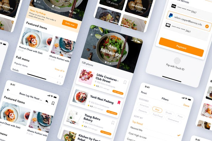 Thumbnail for Food Delivery UI Mobile App Template