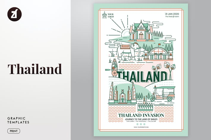 Thumbnail for Thailand graphic templates