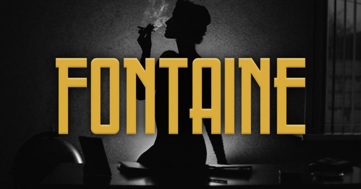Download Fontaine Typeface by MehmetRehaTugcu