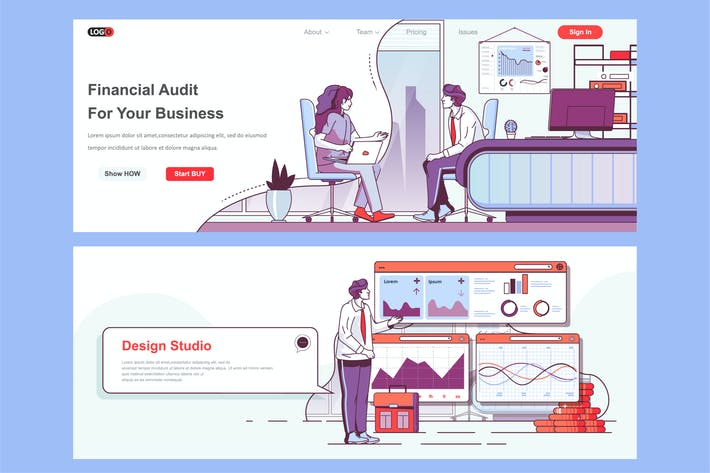 Thumbnail for Financial Audit Header Footer or Middle Content