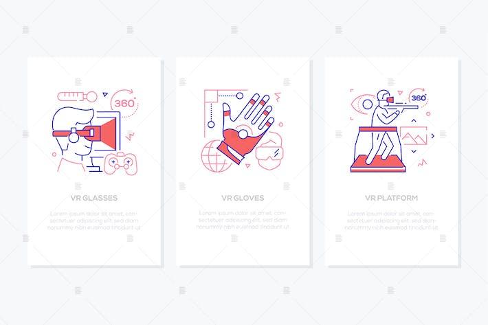 Thumbnail for Virtual Reality Konzept - Liniendesign Stil Banner