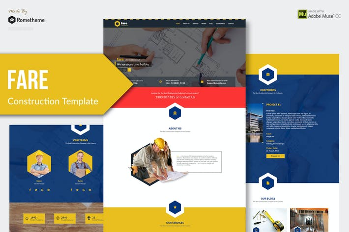 Cover Image For Fare - Construction Muse Template