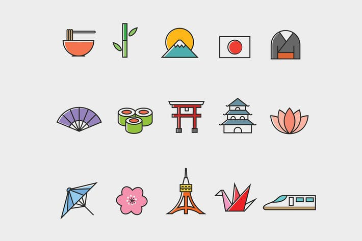 Thumbnail for 15 Japanese Icons
