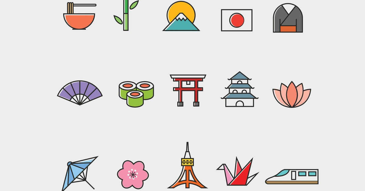 Download 15 Japanese Icons by creativevip