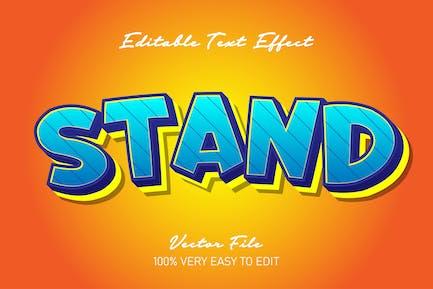 Cartoon blue yellow text effect
