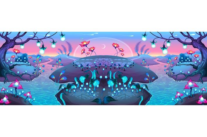 Thumbnail for Fantasy Nocturnal Landscape
