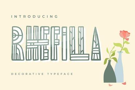 Rhefilla | Decorative Typeface