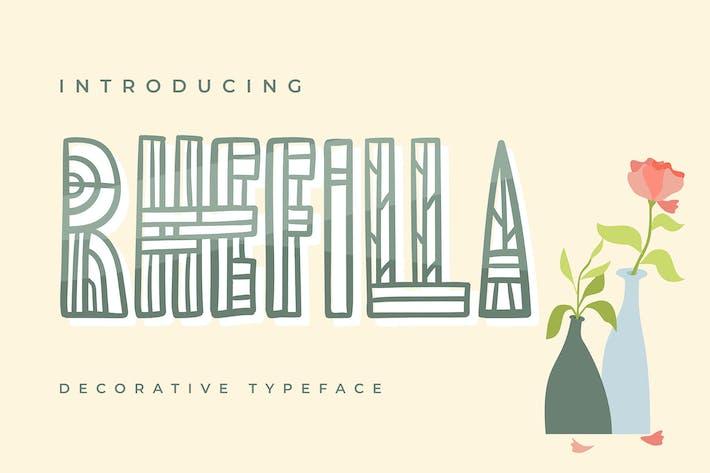 Cover Image For Rhefilla | Tipo de letra decorativa