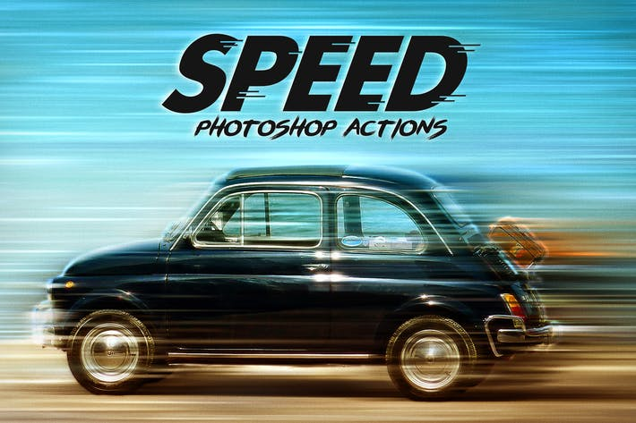 Cover Image For Speed - Photoshop Actions