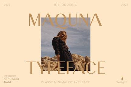 Maquna - Stylish Sans Serif Typeface