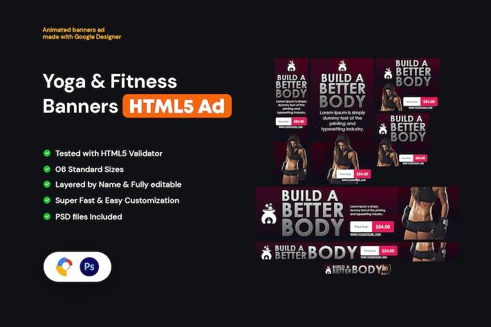 Yoga & Fitness Banners HTML5
