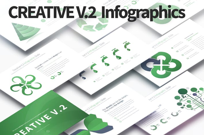 Thumbnail for Creative V.2 - PowerPoint Infographics Slides