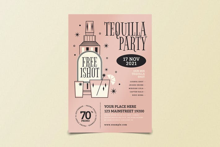 Tequilla Night Party Flyer