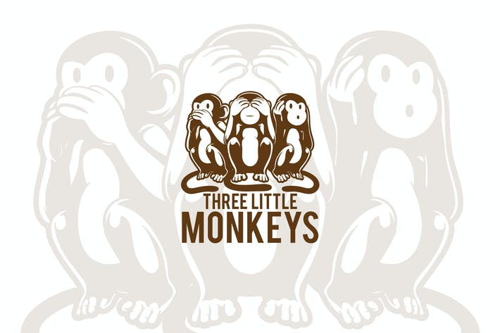 Thumbnail for Three Little  Monkey Mascot Logo