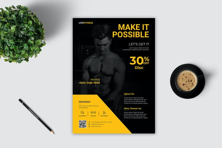 Thumbnail for Fitness Flyer Template Vol. 3