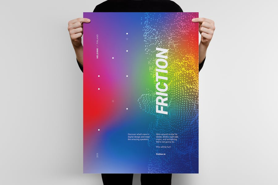 Friction 1 Poster Template