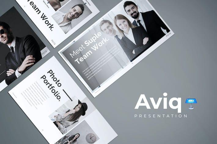 Thumbnail for Aviq - Keynote Template