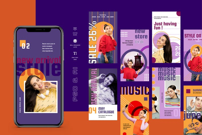 Thumbnail for Beboo - Instagram Stories Template