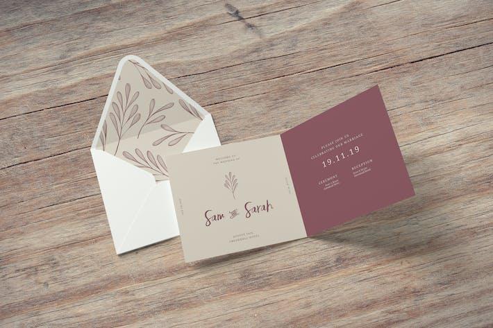 Thumbnail for Square Invitation and Greeting Card Mockups