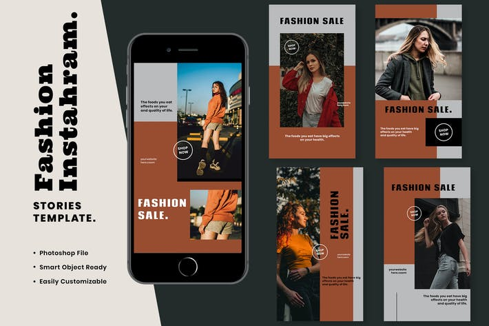 Thumbnail for Fashion Instagram Stories Template