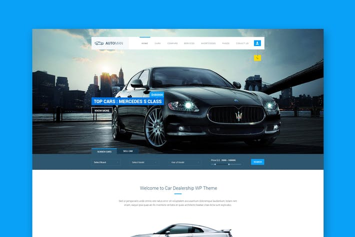 Thumbnail for Automan - Advanced Car Dealer PSD Template
