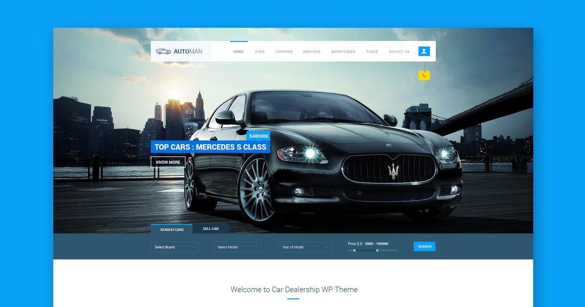 Download Automan - Advanced Car Dealer PSD Template by WPmines