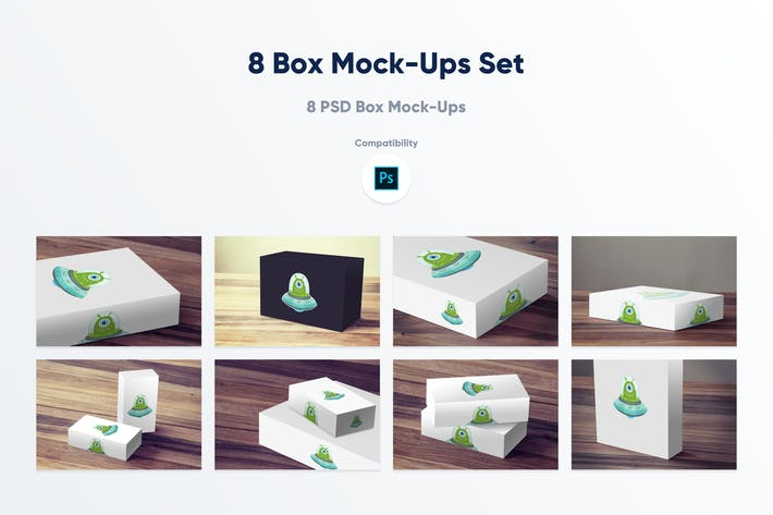 Thumbnail for 8 Box Mock-ups