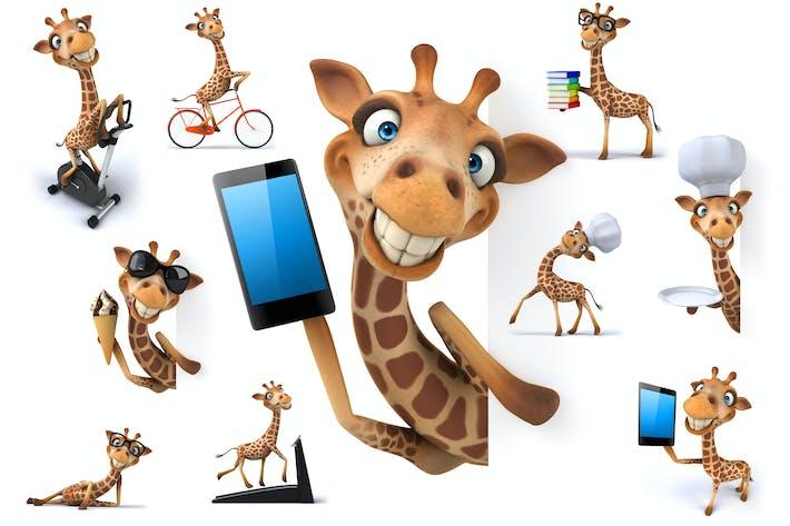 Thumbnail for 10 fun cartoon Giraffes !