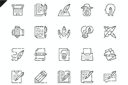 Simple Set Copywriting Line Icons