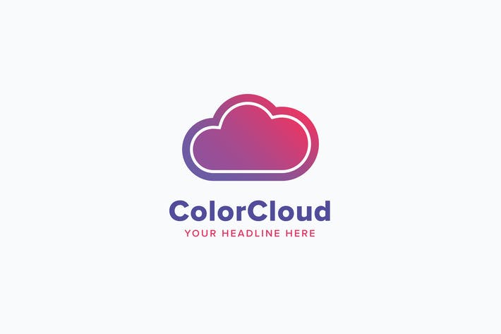 Thumbnail for Color Cloud Logo Template