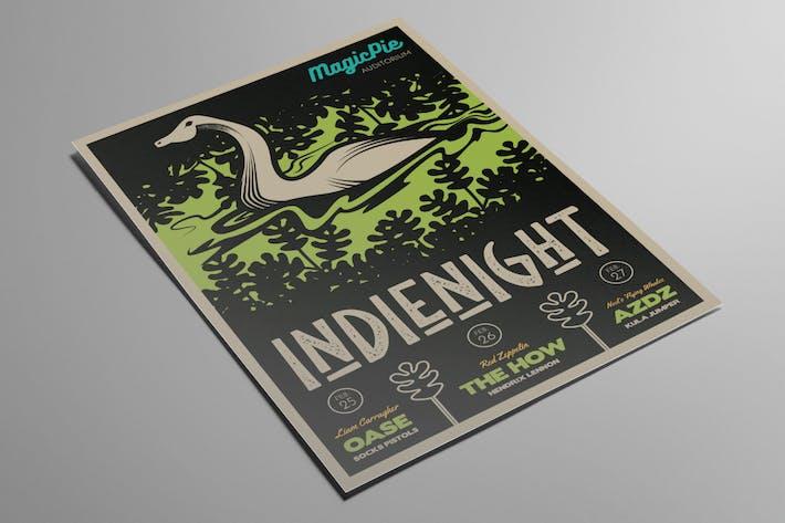 Thumbnail for Lake Monster Indie Gig Flyer