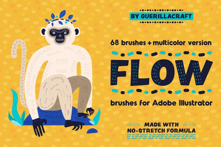 Thumbnail for Flow Brushes for Adobe Illustrator