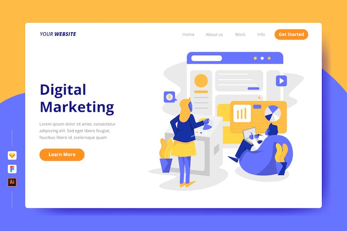 Thumbnail for Digital Marketing - Landing Page