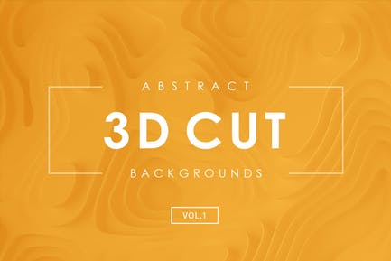 3D Paper Cut Abstract Backgrounds