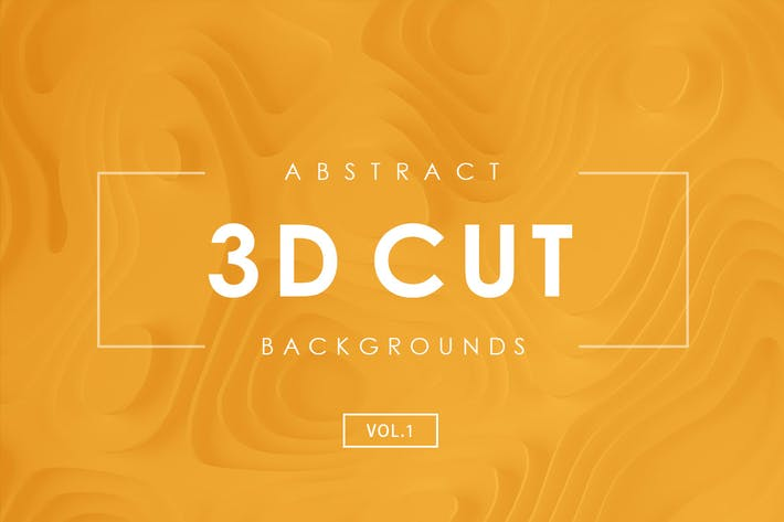 Thumbnail for 3D Paper Cut Abstract Backgrounds