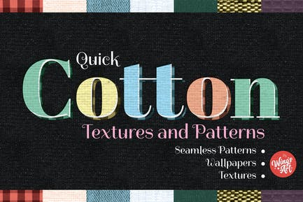 Cotton Fabric Textures and Patterns