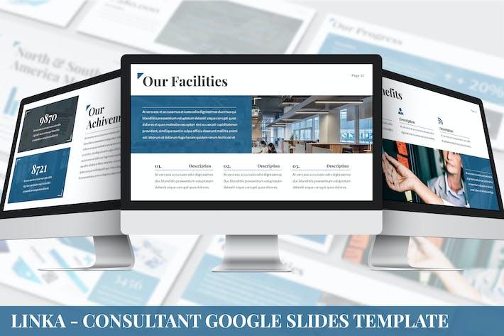Thumbnail for Linka - Consultant Google Slides Template