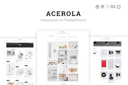 Acerola - Ultra Minimalist Agency WordPress Theme