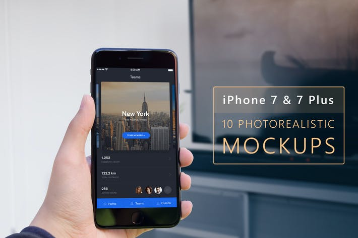 Thumbnail for Photo realistic iPhone 7 & 7 Plus Mock-up