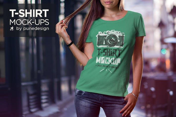 Cover Image For T-Shirt Mock-Up Set