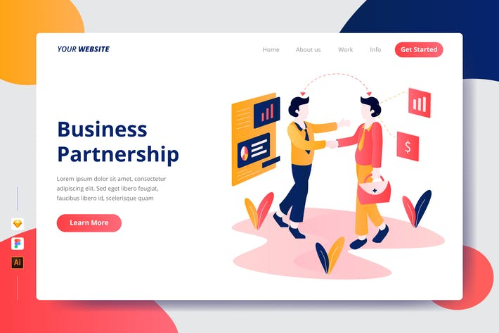 Cover Image For Business Partnership - Landing Page