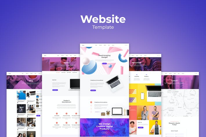Thumbnail for Creative Agency Website Templates