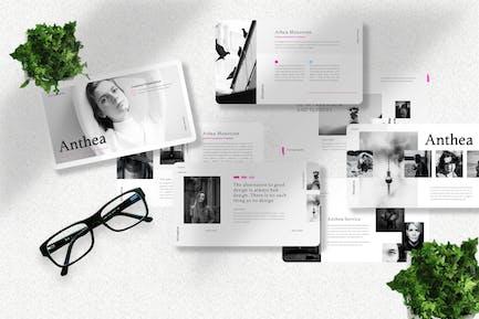 Anthea  - Influencer Googleslide Template