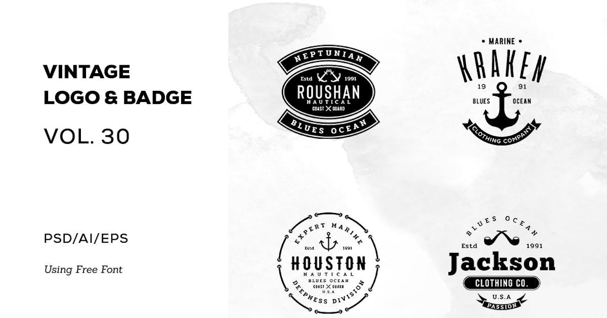 Download Vintage Logo & Badge Vol. 30 by sagesmask
