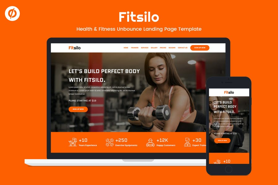 Fitsilo — Health & Fitness Unbounce Landing Page