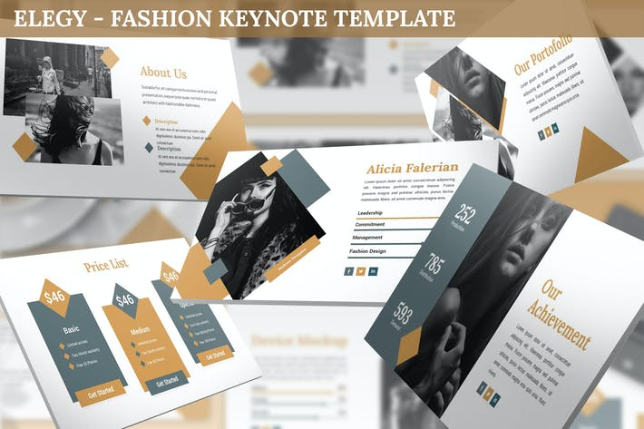 Thumbnail for Elegy - Fashion Keynote Template