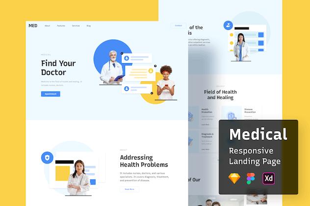 Medical Responsive Landing Page