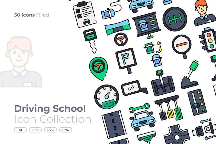 Thumbnail for Icono lleno de escuela de conducción