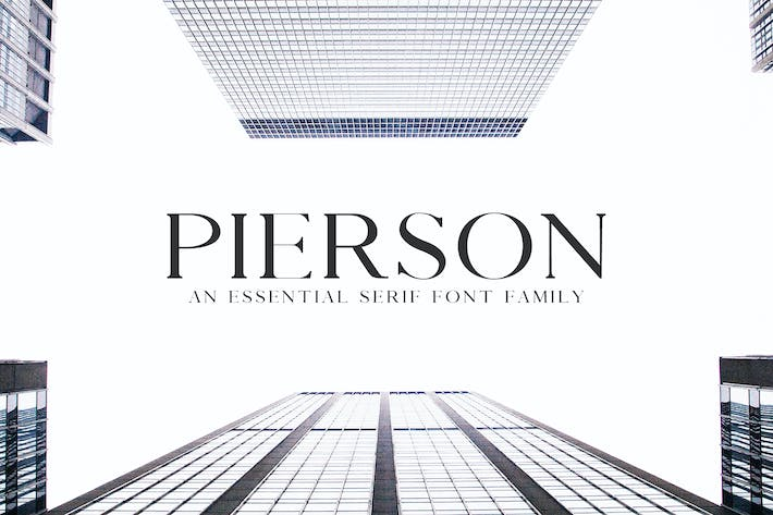 Thumbnail for Pierson An Essential Serif Typeface
