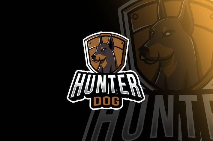 Thumbnail for Шаблон логотипа охотничья собака Esport